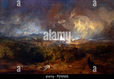 The Fifth Plague of Egypt, JMW Turner, 1800, Indianapolis Museum of Art, Indianapolis, Indiana, USA, North America - Stock Photo