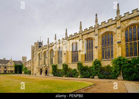 Cambridge Trinity College Great Gate, U.K. - Stock Photo