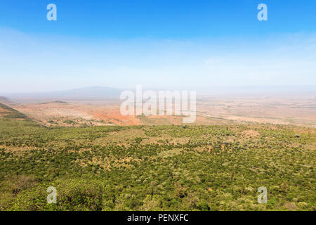 View of the Rift Valley in Kenya - Stock Photo