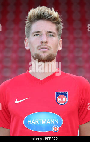 2nd German Bundesliga - Photocall FC Heidenheim - Season 2018/19 on 16 July 2018 in Heidenheim, Germany: Kolja Pusch. | usage worldwide - Stock Photo