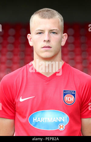 2nd German Bundesliga - Photocall FC Heidenheim - Season 2018/19 on 16 July 2018 in Heidenheim, Germany: Tim Skarke. | usage worldwide - Stock Photo
