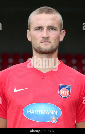 2nd German Bundesliga - Photocall FC Heidenheim - Season 2018/19 on 16 July 2018 in Heidenheim, Germany: Timo Beermann. | usage worldwide - Stock Photo