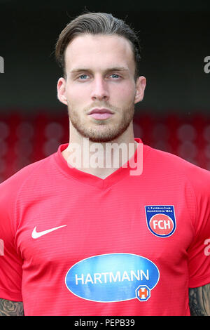 2nd German Bundesliga - Photocall FC Heidenheim - Season 2018/19 on 16 July 2018 in Heidenheim, Germany: Patrick Schmidt. | usage worldwide - Stock Photo