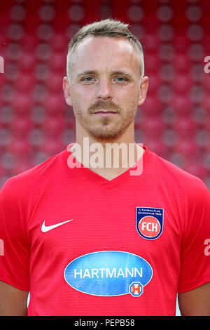 2nd German Bundesliga - Photocall FC Heidenheim - Season 2018/19 on 16 July 2018 in Heidenheim, Germany: Arne Feick. | usage worldwide - Stock Photo