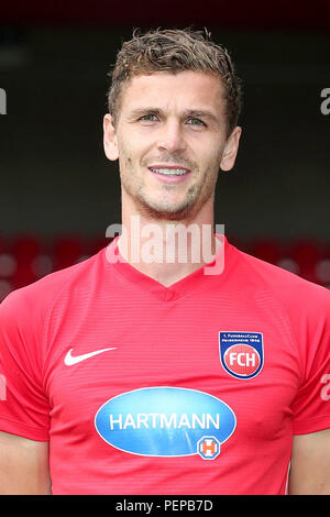 2nd German Bundesliga - Photocall FC Heidenheim - Season 2018/19 on 16 July 2018 in Heidenheim, Germany: Mathias Wittek. | usage worldwide - Stock Photo