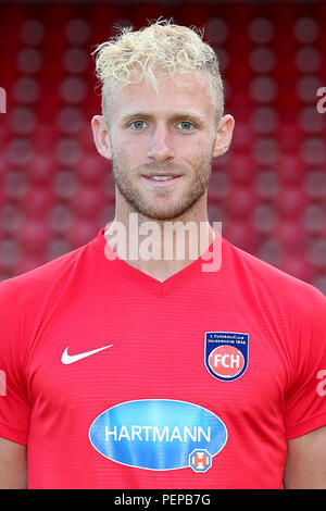 2nd German Bundesliga - Photocall FC Heidenheim - Season 2018/19 on 16 July 2018 in Heidenheim, Germany: Sebastian Griesbeck. | usage worldwide - Stock Photo