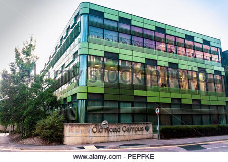 researchModern architectural styles at the Oxford University Campus on site at The Churchill Hospital, Oxford - Stock Photo
