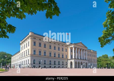 The Royal Palace, Oslo, Norway - Stock Photo