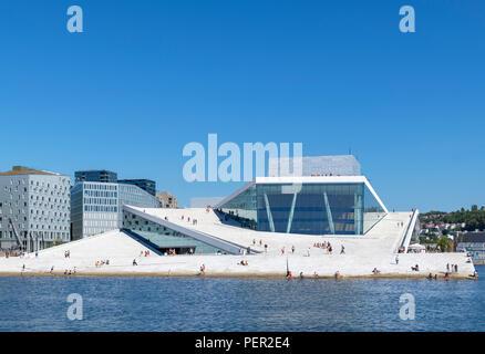 Oslo Opera House (Den Norske Opera & Ballett), Oslo, Norway - Stock Photo