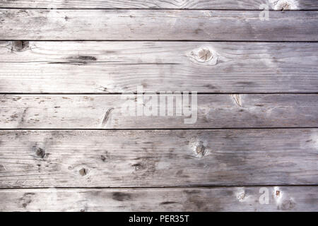 Grey wooden table surface texture and background. - Stock Photo