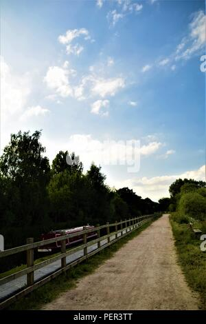 Birmingham canal view in the coutryside - Stock Photo
