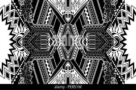 Black and white paisley pattern. Vintage background in batik style. Beautiful vintage floral for your business. Abstract background. - Stock Photo