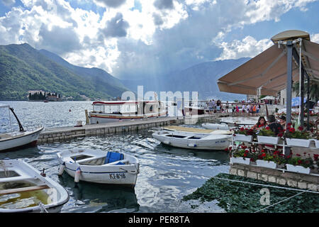Pretty Village of Perast on the Boka, Montenegro - Stock Photo