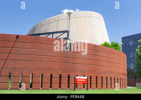 LOUISVILLE, KY/USA JUNE 3, 2018: Gheens Science Hall and Rauch Planetarium on the campus of the University of Louisville. - Stock Photo