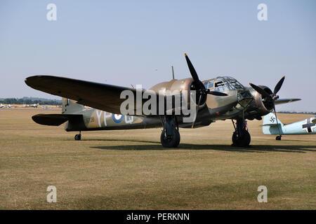 British Bristol Blenheim Mk1. early second world war light bomber and night fighter. - Stock Photo