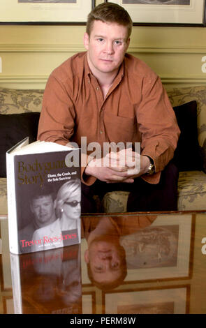 London,England,UK: March 13,2000. TREVOR REES-JONES The Bodyguard who survived the car crash in Paris that killed Princess Diana. Talking about his bo - Stock Photo