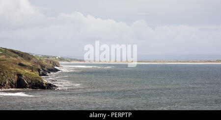 The beach and sand dune system at Inch Strand in Dingle Bay on the west coast of Ireland's County Kerry. - Stock Photo