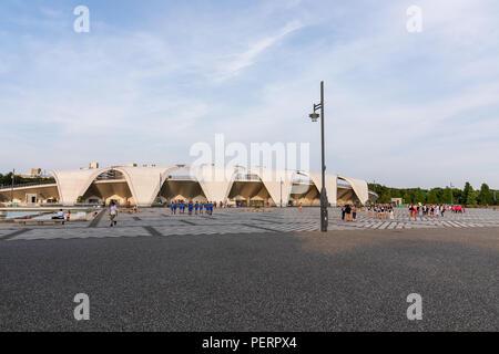 Komazawa Olympic Park Stadium (Murata Masachika Architects), built for the 1964 Summer Olympics in Tokyo, Japan