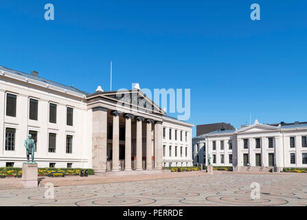 Central Campus of the University of Oslo, now housing the Faculty of Law, Universitetsplassen, Karl Johans gate, Oslo, Norway - Stock Photo