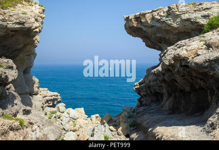 Cantabria, coastal landscape between Santander and Maruca, part of a variant of Camino De Santiago - Stock Photo