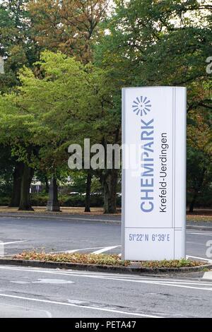 Chempark chemical industry in germany Krefeld Uerdingen - Stock Photo