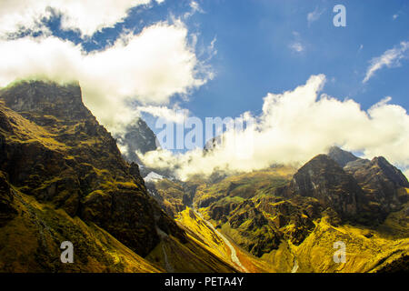 Mighty mountains in traveling - Stock Photo