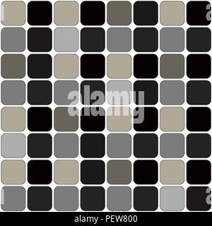 Dark Grey Patch Board Repeatable Pattern on white - Stock Photo