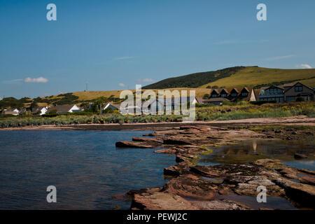 West Kilbride to Adrossan Coast Line 2018 - Stock Photo