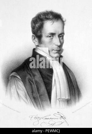 René-Théophile-Hyacinthe Laennec (1781 – 1826) French physician and inventor of the stethoscope. - Stock Photo
