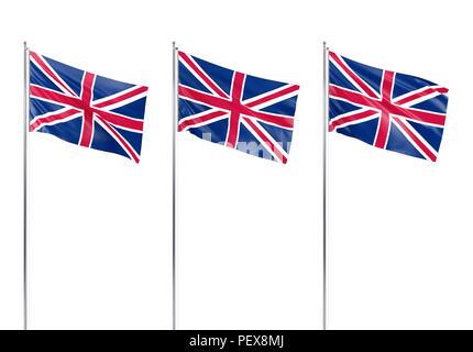 Flag of United Kingdom, 3D rendering - Stock Photo