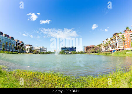 Montpellier Town Hall and Marianne Basin - Stock Photo