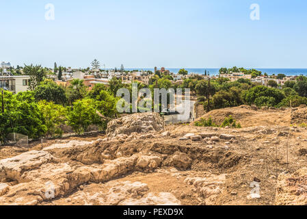 Fragment of excavations in the archaeological park of Paphos, Cyprus. - Stock Photo