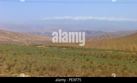 A Large Area of Plain under the Blue Sky in China - Stock Photo