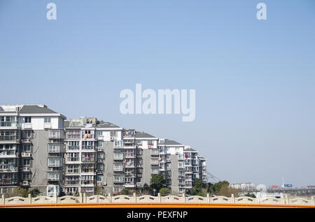 Chinese Apartment Building Living Space Urban City Environment - Stock Photo