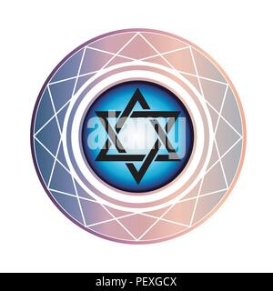 Jewish Star of David - Stock Photo