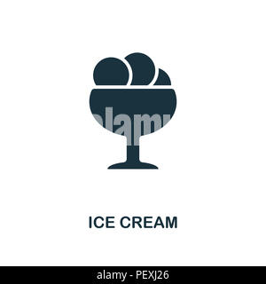Ice Cream creative icon. Simple element illustration. Ice Cream concept symbol design from party icon collection. Can be used for mobile and web desig - Stock Photo