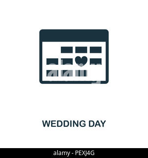Wedding Day creative icon. Simple element illustration. Wedding Day concept symbol design from honeymoon collection. Can be used for mobile and web de - Stock Photo