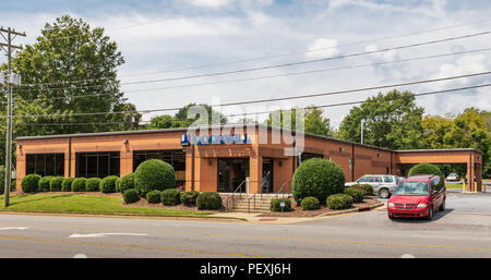 HICKORY, NC, USA-15 AUGUST 18:  A Goodwill Industries store, a non-profit chain of retail thrift stores, operating in 16 countries. - Stock Photo