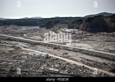 Tsunami :  04/30/2011 Fukushima japan - Stock Photo