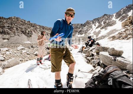 Hiker in La Plata Mountains, Colorado, USA - Stock Photo