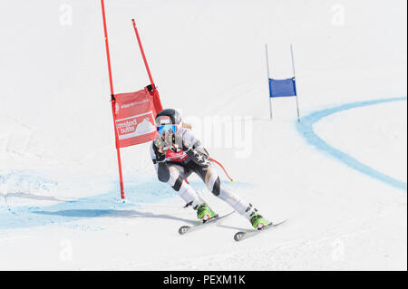 Downhill skiing, Crested Butte, Colorado, USA - Stock Photo