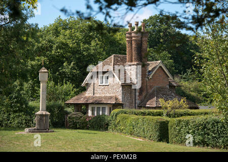 Blaise Hamlet, a group of 9 cottages, grade 1 listed, in Henbury, Bristol, UK.  They were designed by John Nash and built in 1809 for pensioners - Stock Photo
