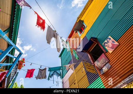 La Boca district of Buenos Aires, Argentina - Stock Photo