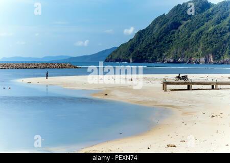 View of beach, Banda Aceh, Sumatra, Indonesia - Stock Photo