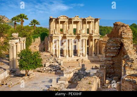 Library of Celsus, Ephesus Ancient City, Izmir, Turkey - Stock Photo
