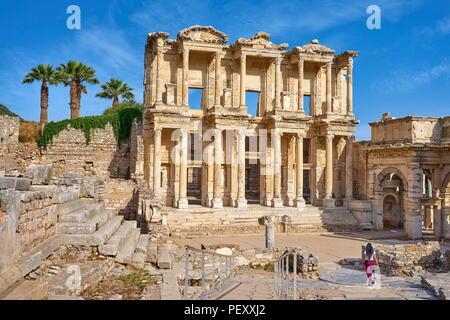 Ephesus - Library of Celsus, Turkey - Stock Photo