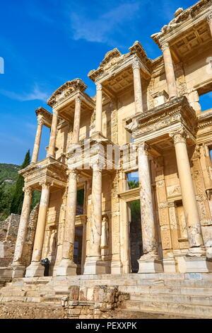 Library of Celsus, Ephesusy, Izmir, Turkey - Stock Photo