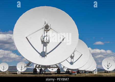 The Very Large Array of the National Radio Astronomy Observatory near Socorro, New Mexico - Stock Photo
