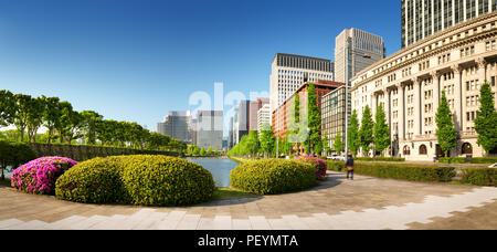 panoramic view to the Tokyo, Japan from air - Stock Photo