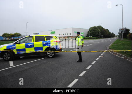 The supermarket ASDA  in Clevedon North Somerset was evacuated early Saturday evening and the Bomb Squad were called/ Robert Timoney/Alamy/Live/News - Stock Photo